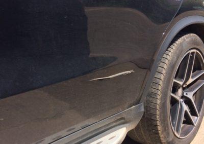M Benz Rear Door Damage2