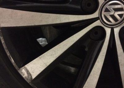 VW Polo Diamond Cut Before